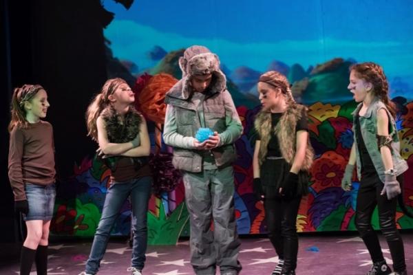 Grace Pitts (Wickerhsam), Izzy Pingrey (Wickersham), Mateo Lizcano (Horton the Elephant), Kirra Gonzalez Murphy (Wickersham), and Marley Reiner (Wickersham)