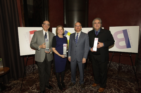 Tom Viola, Executive Director, BC/EFA; Alice M. Greenwald, Director, National 9/11 Memorial Museum; Anthony Napoli, President of Briggs, Inc.; Dean Vali, President & Owner of Bounce Music and Entertainment, January 12, 2015