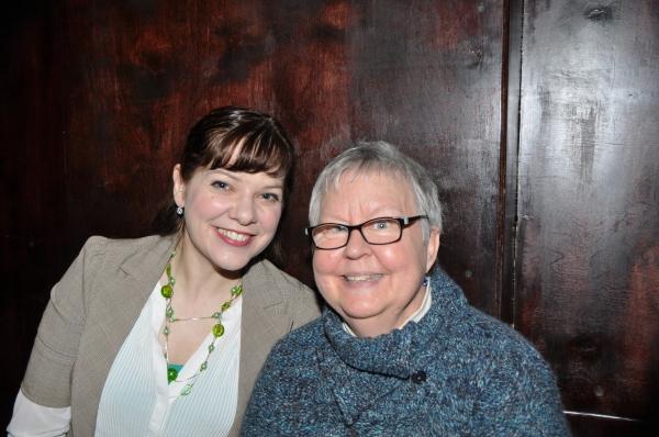 Jillian Louis and Christine Lavin