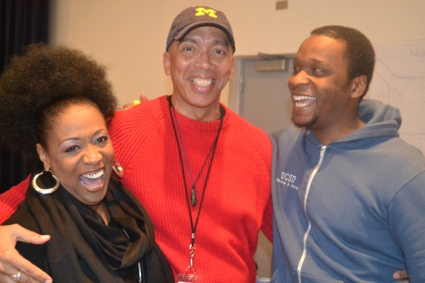 Cast member E. Faye Butler, director Timothy Douglas and cast member Bowman Wright