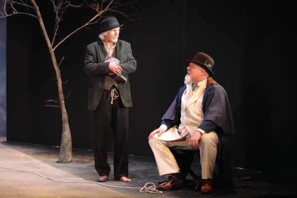 Bruce Cromer as Estragon and Jim Hopkins as Pozzo