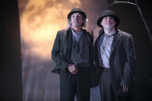 Bruce Cromer as Estragon and Nicholas Rose as Vladimir