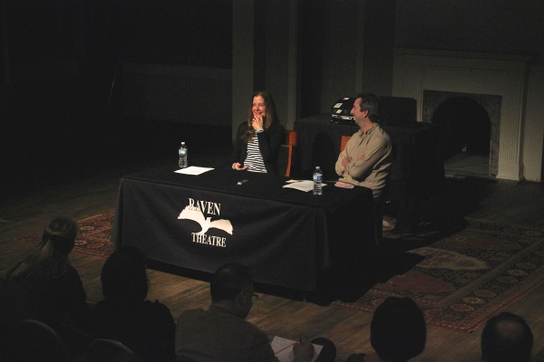 Hallie Foote (left), interviewed by Henry Wishcamper for Raven's 'A Conversation with Photo