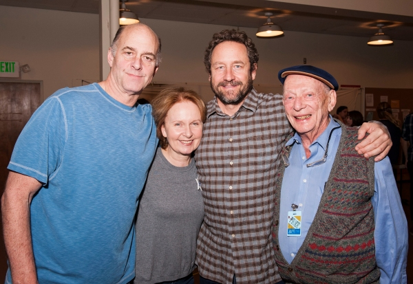 Cast members John Bedford Lloyd, Kate Burton, Sam Robards and Alan Mandell