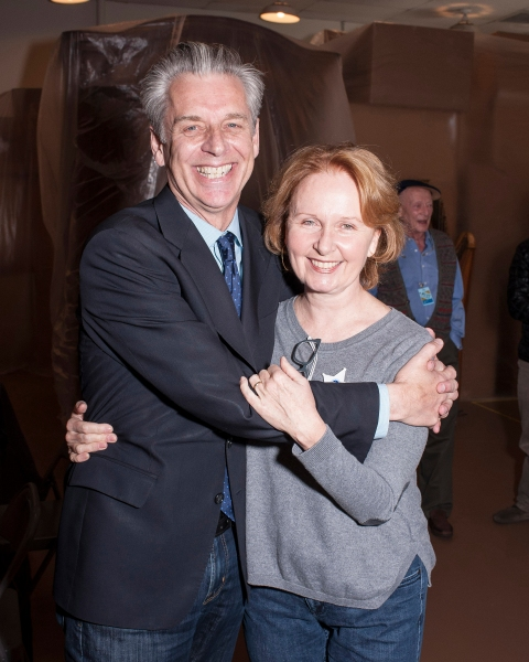 CTG Artistic Director Michael Ritchie with his wife, cast member Kate Burton