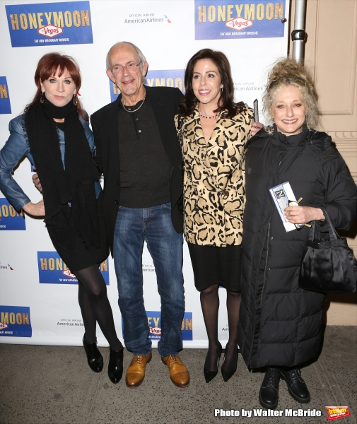 Marilu Henner, Christopher Lloyd with wife Jane Walker Wood and Carol Kane