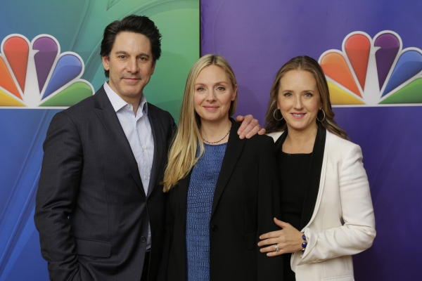 ALLEGIANCE -- Pictured: Scott Cohen, Hope Davis, Jennifer Salke; President, NBC Entertainment.
