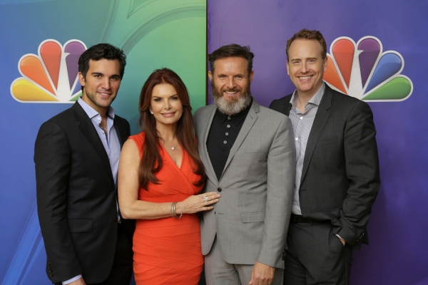 A.D. -- Pictured: Juan Pablo di Pace, Roma Downey; Executive Producer, Mark Burne Photo