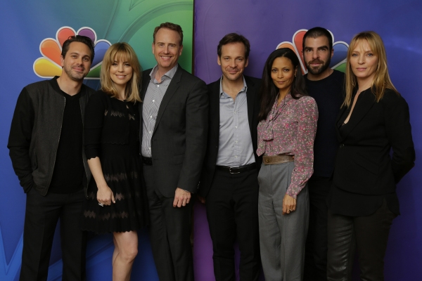 Thomas Sadoski, Melissa George, Robert Greenblatt; Chairman, NBC Entertainment; Peter Sarsgaard, Thandie Newton, Zachary Quinto, Uma Thurman