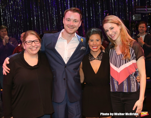 Broadway debut cast members Andrea Cibelli (ASM), Barry Busby, Jessica Naimy and Eric Photo