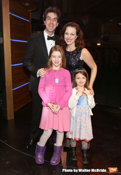 Jason Robert Brown and wife Georgia Stitt with family