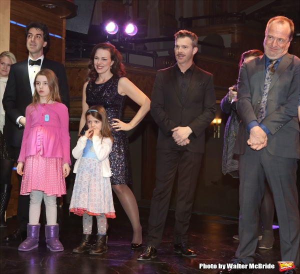 Tony Danza with Jason Robert Brown and wife Georgia Stitt with family, Denis Jones and Gary Griffin