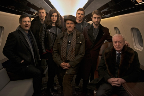 Mark Ruffalo, Jesse Eisenberg, Lizzy Caplan, Woody Harrelson, Dave Franco, Daniel Radcliffe, and Michael Caine