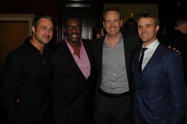 "Taylor Kinney, Eamonn Walker, ""Chicago Fire""; Robert Greenblatt; Chairman, NBC Entertainment; Jesse Spencer, ""Chicago Fire"""