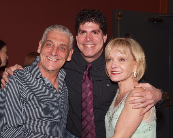 Glenn Casale, Flying Sequence ChoreographerPaul Rubin, and Cathy Rigby