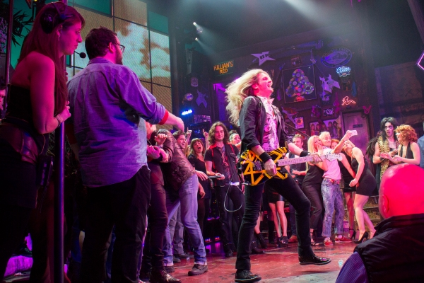 Joel Hoekstra with past and present cast members of ROCK OF AGES