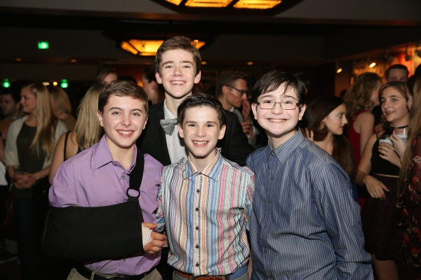 Noah Parets (cast for Billy before breaking his arm in rehearsals) and cast members R.J. Higton, Michael Tobin and Jake Kitchin