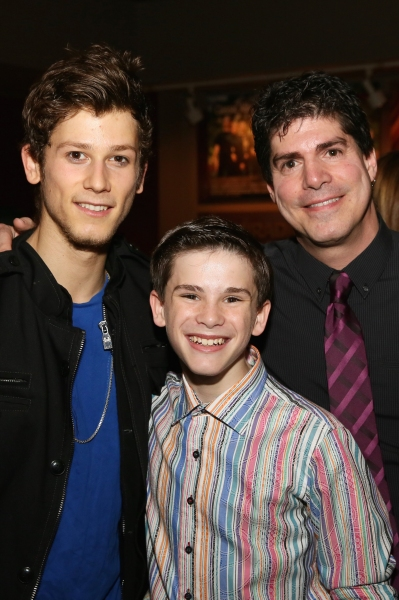 Cast members Brandon Forrest and Michael Tobin and Flying Sequence Choreographer Paul Photo