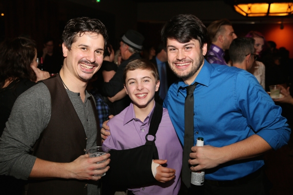 Cast member Stephen Weston, Noah Parets (cast for Billy before breaking his arm in rehearsals) and cast member Michael Dotson