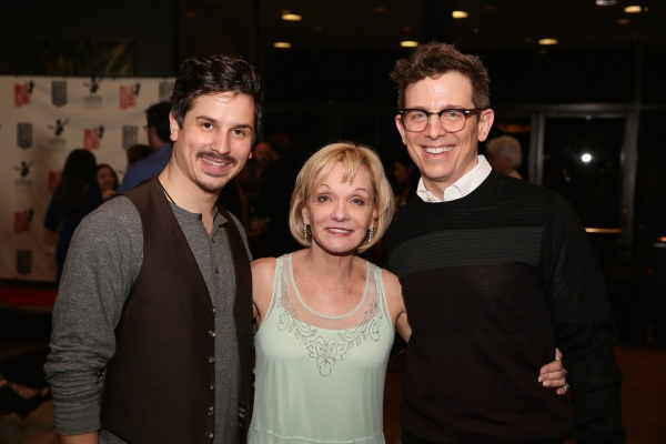 Cast member Stephen Weston, Executive Producer Cathy Rigby and actor Jeff Skowron