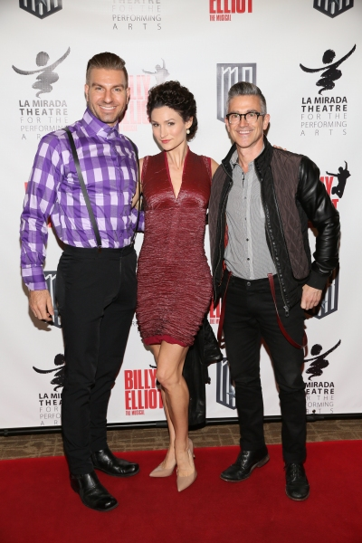 Actors Karl Warden and Lauren Decierdo and Todd Heughens