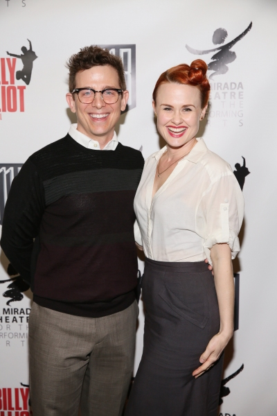 Actors Jeff Skowron and Rebecca Ann Johnson