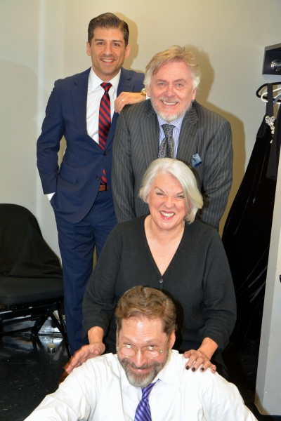 David Staller, Tyne Daly, Daniel Davis and Tony Yazbeck