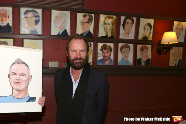 Sting attends his caricature unveiling at Sardi''s on January 20, 2015 in New York City.
