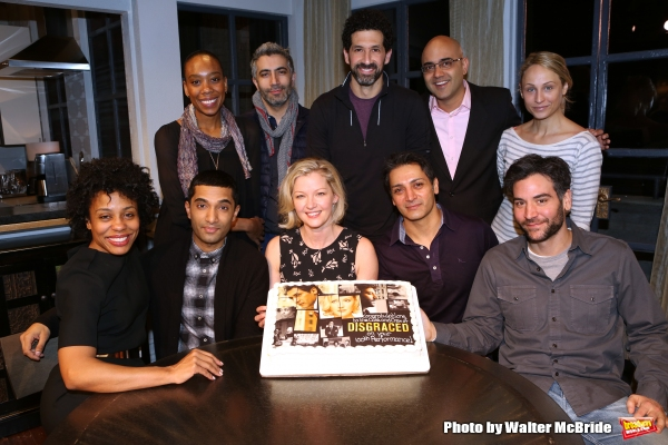 (1st row) Francesca Choy-Kee, Piter Marek, Benim Foster, playwright Ayad Akhtar and Katya Campbell (2nd row)Karen Pittman, Danny Ashok, Gretchen Mol, Hari Dhillon and Josh Radnor