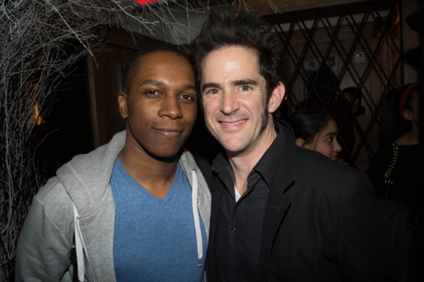 HAMILTON cast members Leslie Odom Jr and choreographer Andy Blankenbuehler