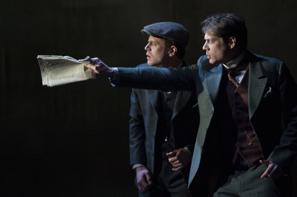 Lucas Hall as Doctor Watson and Gregory Wooddell as Sherlock Holmes