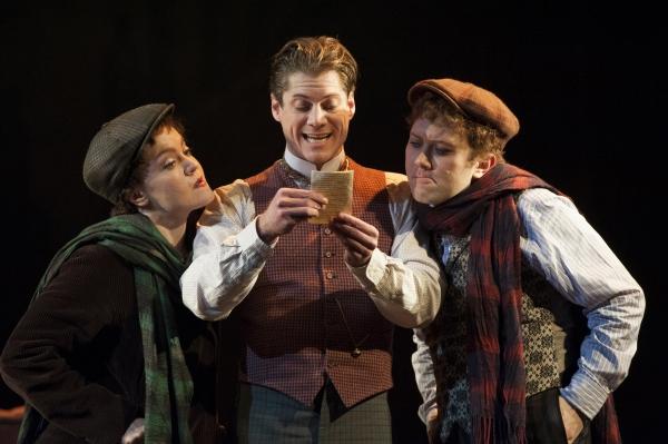 Jane Pfitsch, Gregory Wooddell as Sherlock Holmes and Stanley Bahorek