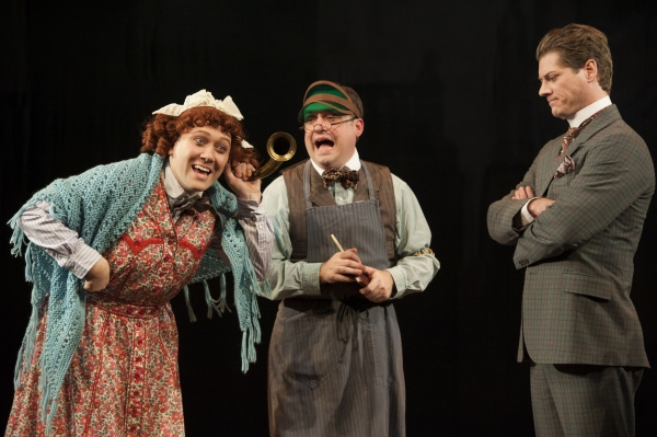 Stanley Bahorek, Michael Glenn and Gregory Wooddell as Sherlock Holmes