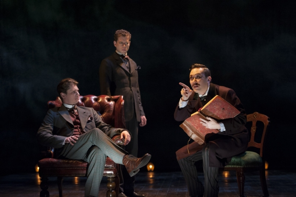 Gregory Wooddell as Sherlock Holmes, Lucas Hall as Doctor Watson and Stanley Bahorek