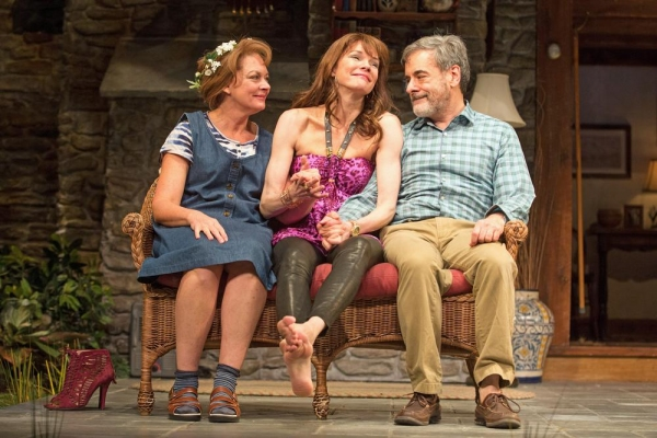 Michele Pawk (Sonia), Carolyn McCormick (Masha) and Mark Nelson (Vanya)