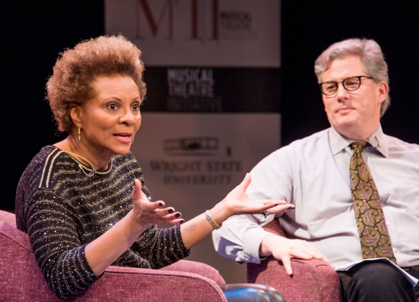 Joe Deer, director of the Musical Theatre Initiative, right, led a Q&A with Leslie Uggams.