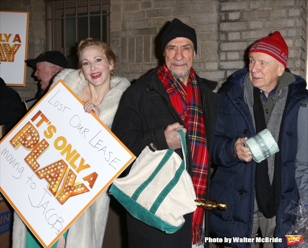Katie Finneran, F. Murray Abraham and  Terrence McNally and the cast