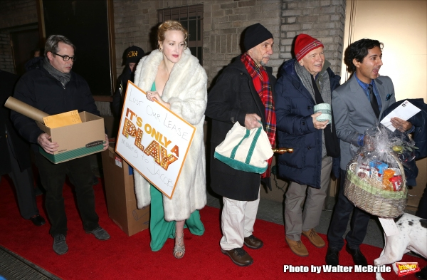 Matthew Broderick, Katie Finneran, F. Murray Abraham, Terrence McNally, and Maulik Pancholy