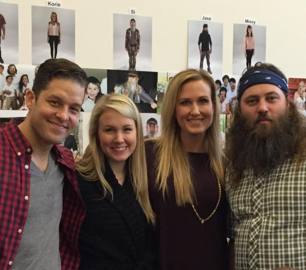 Willie Robertson, his wife Korie, and the actors playing them in THE DUCK COMMANDER FAMILY MUSICAL