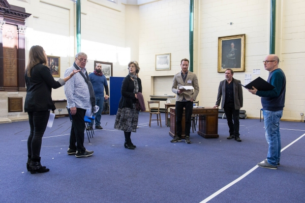 Photo Flash: In Rehearsal with James Dreyfus & More for UK Tour of HARVEY