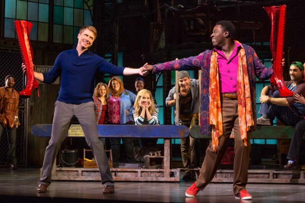 Steven Booth and Kyle Taylor Parker in the National Tour of KINKY BOOTS Photo