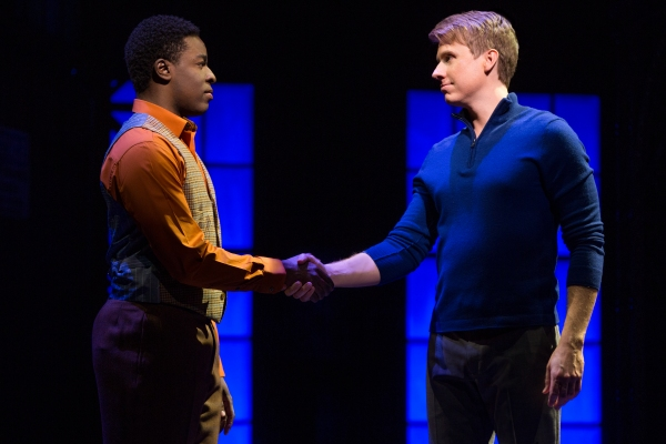 Kyle Taylor Parker and Steven Booth in the National Tour of KINKY BOOTS