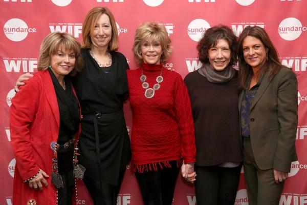 Pat Mitchell, Keri Putnam, Jane Fonda, Lily Tomlin and Cathy Schulman