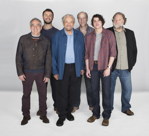 The cast of The Twenty-seventh Man: (from left) Robert Dorfman, Lowell Byers, Hal Linden, James Shanklin, Eli Gelb, and Ron Orbach.