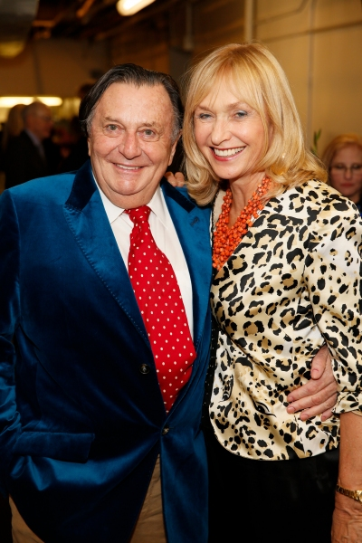Dame Edna creator and performer Barry Humphries and wife Lizzie Spender Photo