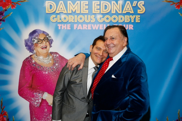 Michael Feinstein and Dame Edna creator and performer Barry Humphries