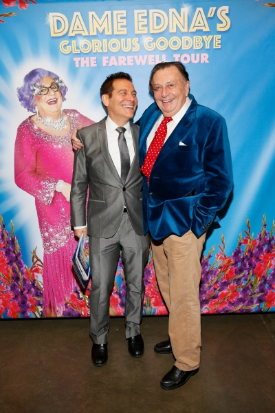 Michael Feinstein and Dame Edna creator and performer Barry Humphries Photo