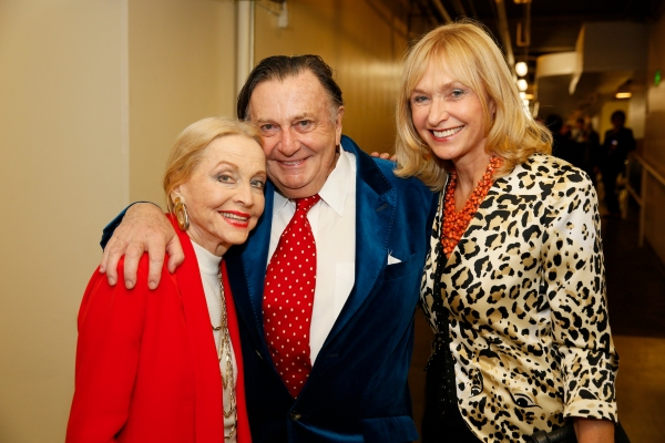 Actress Anne Jeffreys, Dame Edna creator and performer Barry Humphries and wife Lizzie Spender