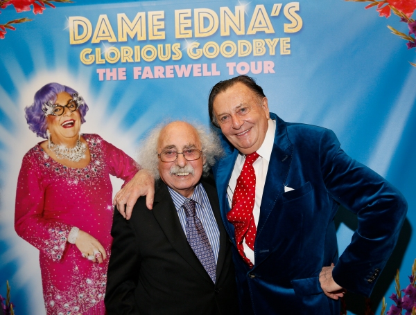 Comedian Ray Jessel and Dame Edna creator and performer Barry Humphries