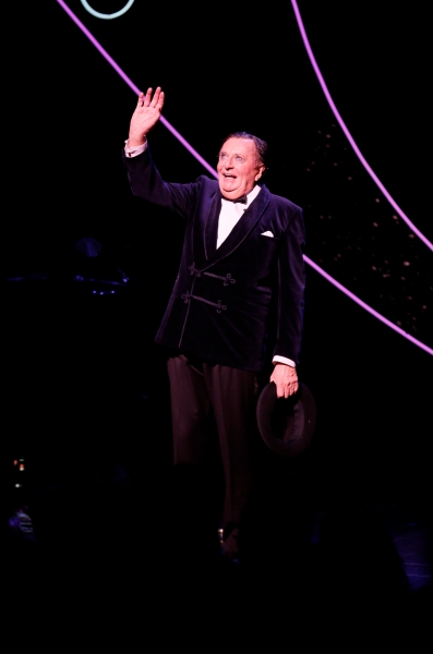 Dame Edna creator and performer Barry Humphries takes his curtain call after the opening night performance of 'Dame Edna's Glorious Goodbye - The Farewell Tour' in LA
